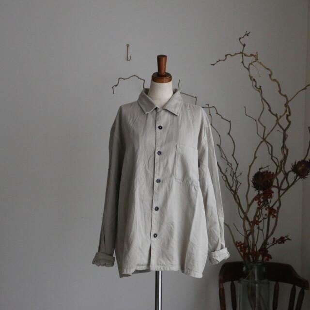 INHT205CT HTS COTTON TWILL OVERDYE  one-up collar shirt
