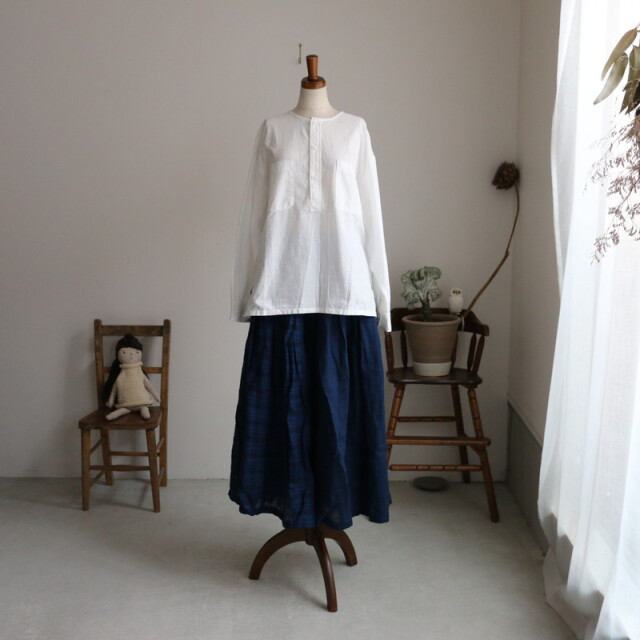 INMDS21014CB maison de soil combi  rajasthan tuck gathered skirt