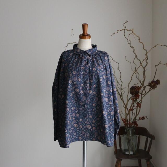 NSL21571 soil regular collar gathered shirt