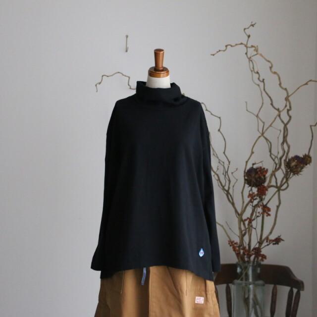 13C13 快晴堂 Girl'sインナーオフタートルTシャツ ブラック