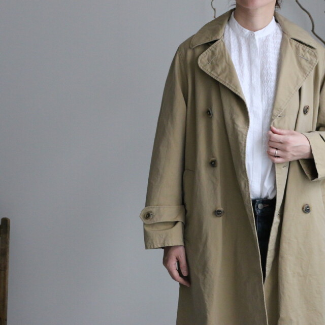 NMPA1701ST ARMEN double breasted coat 840M DK.BEIGE