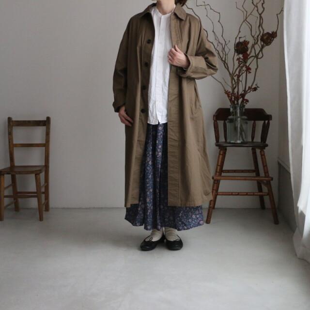NHT2051DT HTS cotton balmacaan coat  480B DK. KHAKI