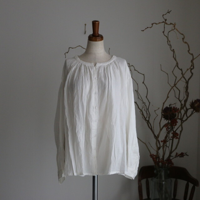 NSL21531 soil gather smock shirt 2色