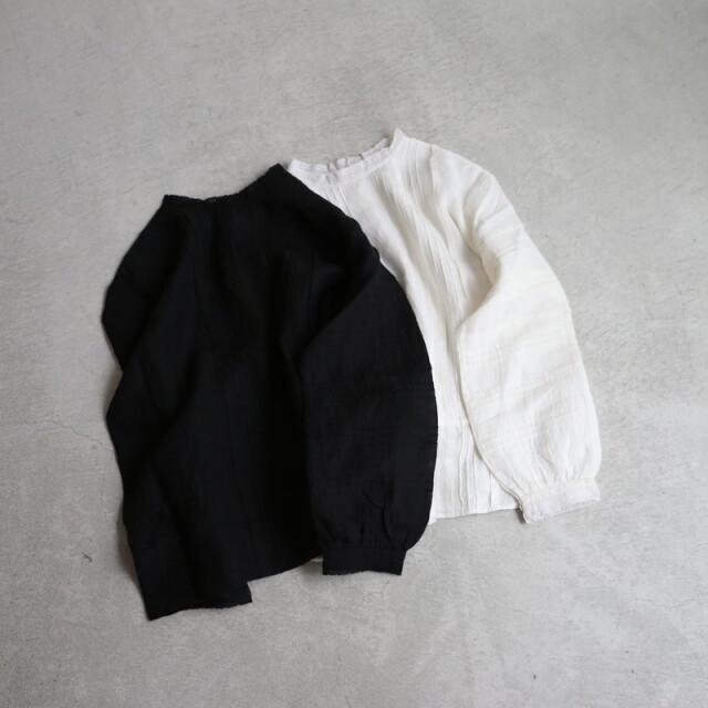 NMDS21151 maison de soil lace pintuck 2way shirt 2色