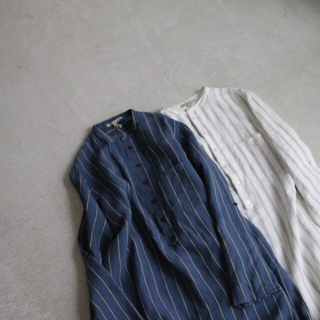 13205031vlas blomme カフタンロングシャツ 2色