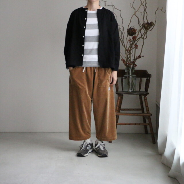 13S27 快晴堂 トリプルガーゼwide girl'sシャツ ブラック