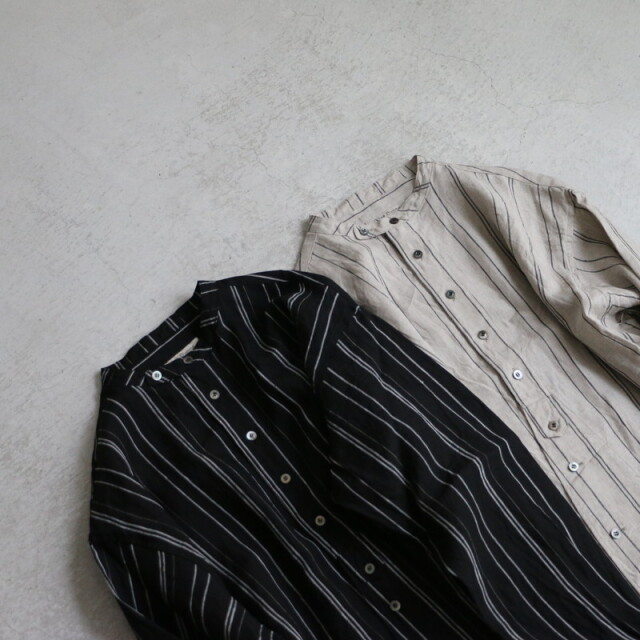 13127041 vlas blomme  チュニックシャツ 2色