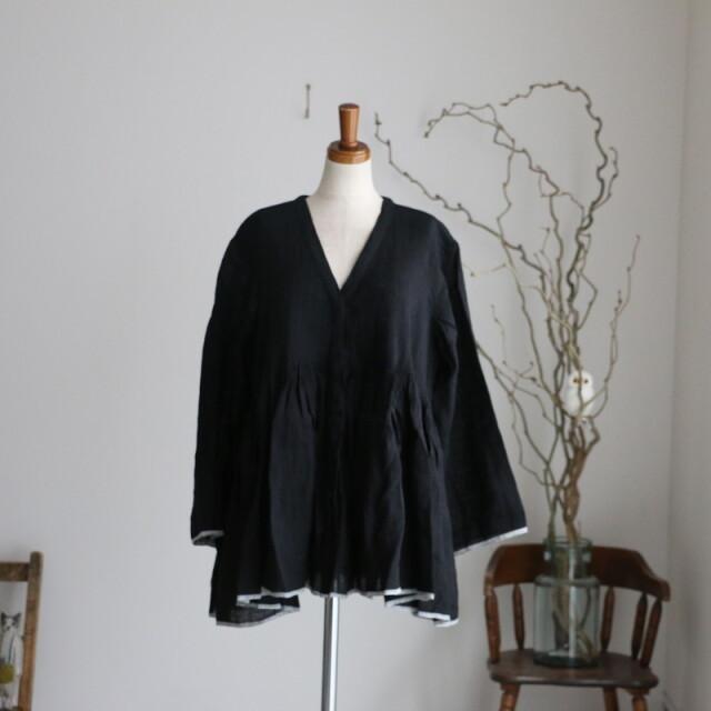 INMDS21002 maison de soil mini pintuck wrap blouse