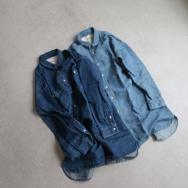 ST020 veritecoeur デニムシャツ 2色
