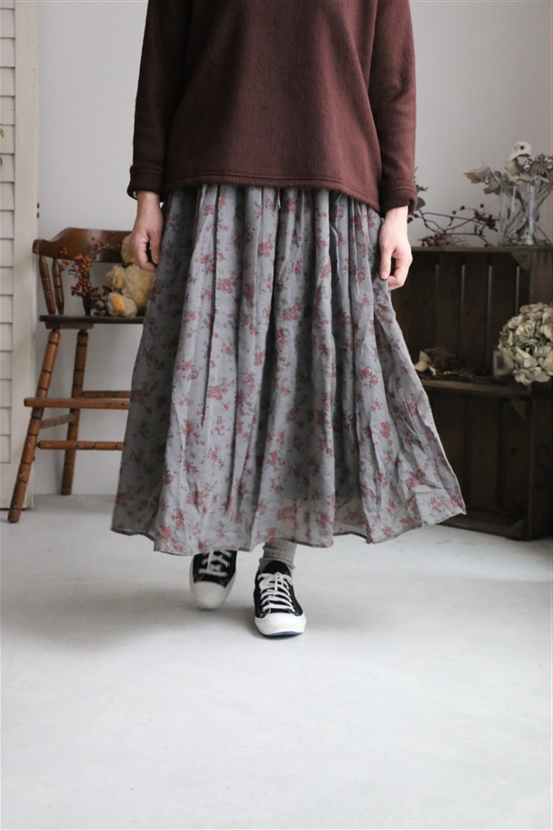 NSL18523 soil GATHERED SKIRT