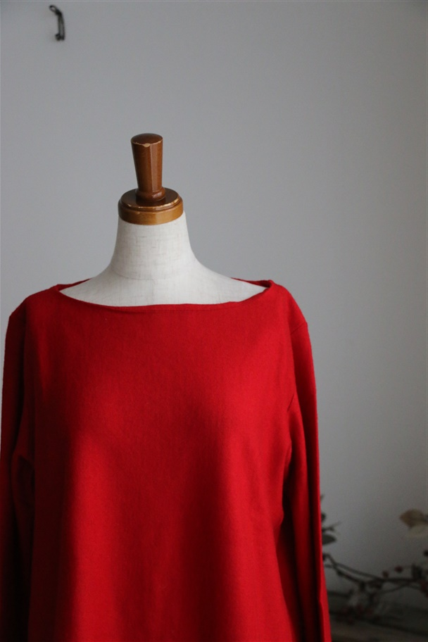 DW01 DAILY WARDROBE INDUSTRY BOAT NECK knit 2色