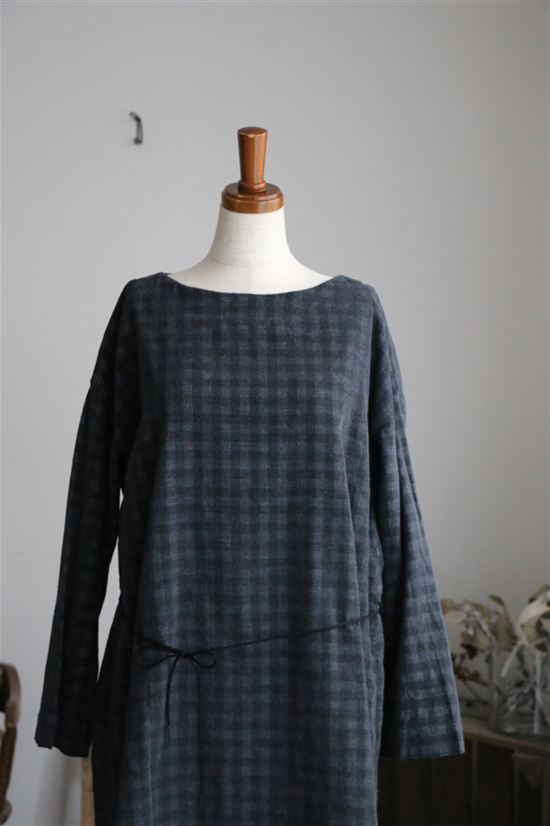 <SALE>TO164042 TINA and SUSIE ギンガムコールワンピース
