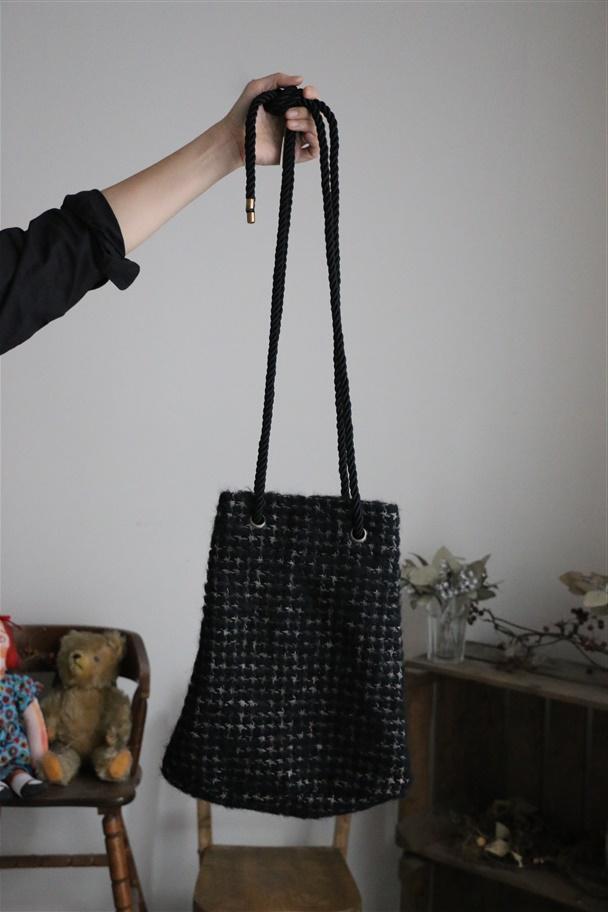 <SALE>31808451 vlas blomme  シャギードローストリング BAG