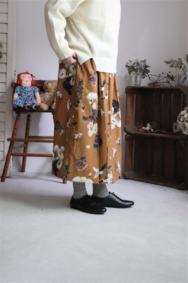 v002 mudoca 明日のつぼみ明後日の花びら スカート 2色