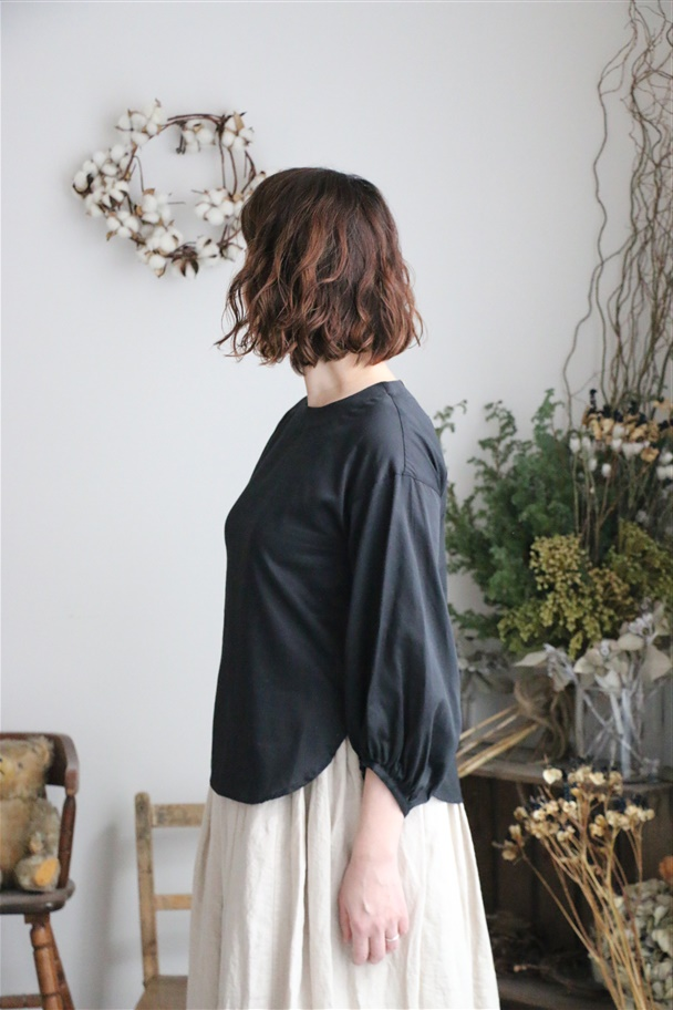 <SALE>19-S009 si si si blouse black