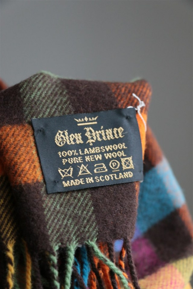 GP033 GLEN PRINCE block check scarf