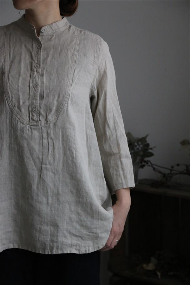 LWA031 fog linen work ロミーナシャツ ナチュラル