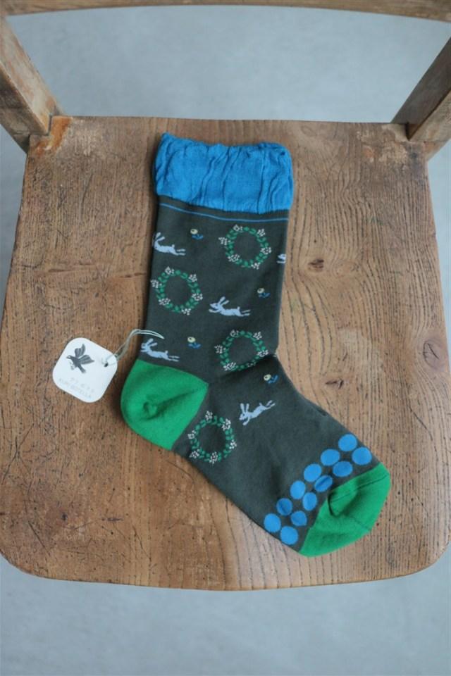 002-02-7 KURI BOTELLA Usagi socks 2色