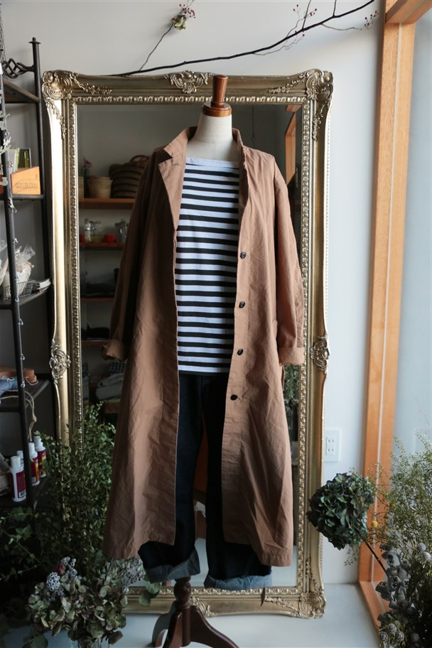 dw04 DAILY WARDROBE INDUSTRY CONFORT COAT BROWN