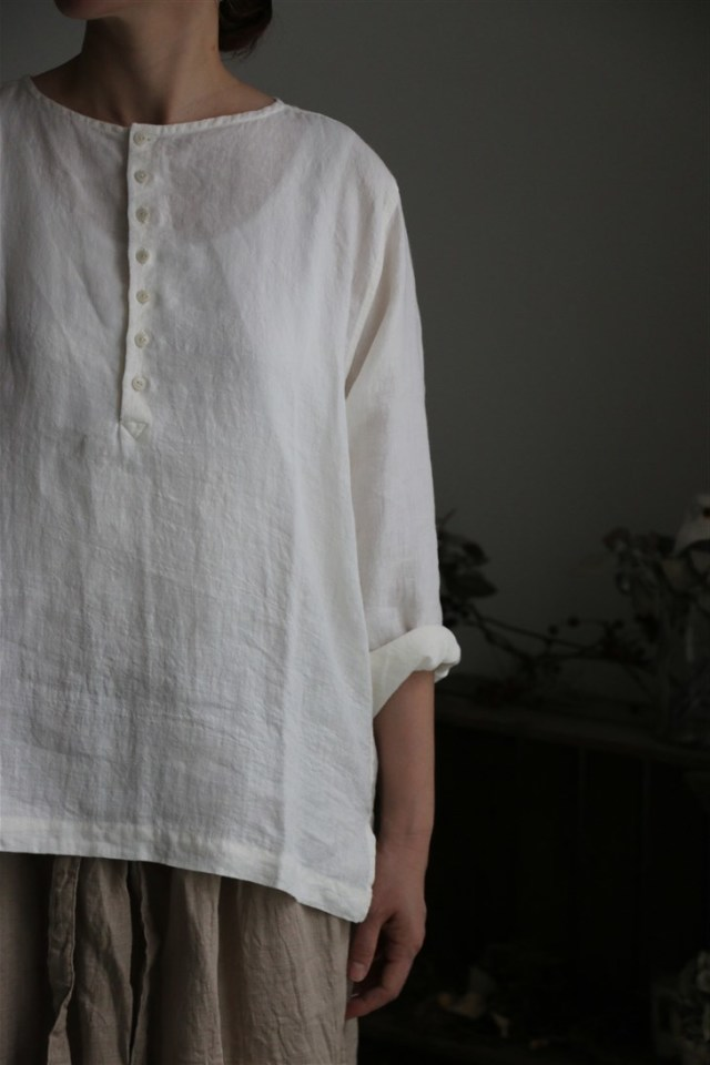 LTS014  Own GArment products ヘンリーネックシャツ 2色