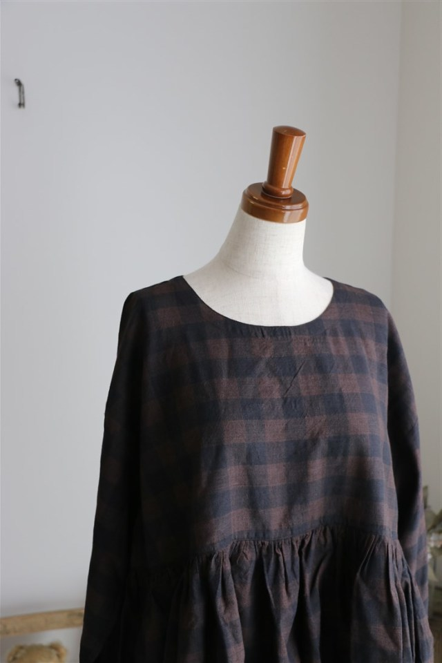 <SALE>INMDS16501 maison de soil RAJASTHAN GATHERED L/SL PULLOVER