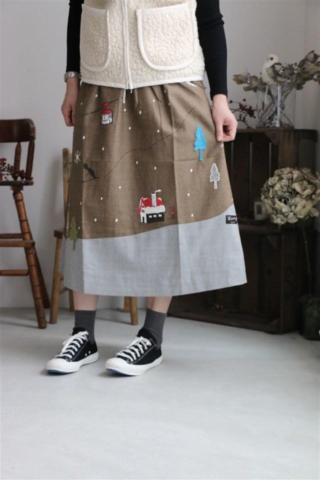 83S-48 快晴堂 スカートはカンバスだ! 総裏仕立てスカート 2色