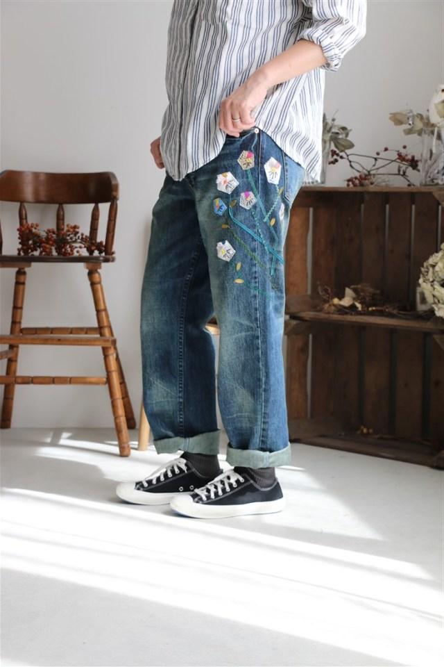 178F999229 marble SUD 花えらびDENIM PANTS サイズ展開あり