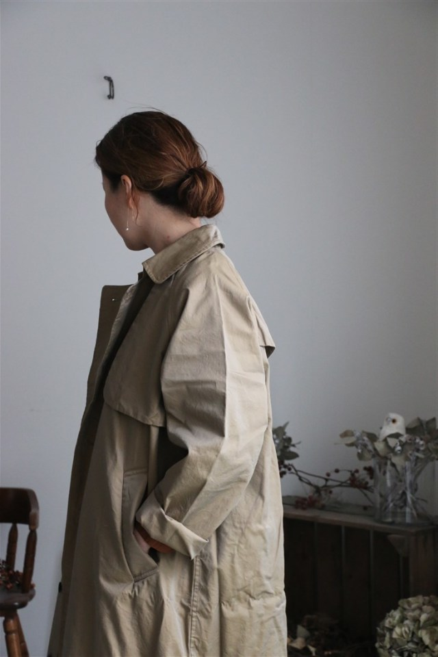 US183KW003 TISSU  Trench Coat camel