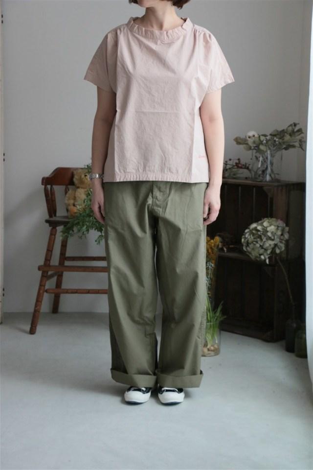 81S-13 快晴堂 ギャザーシャツ 2色