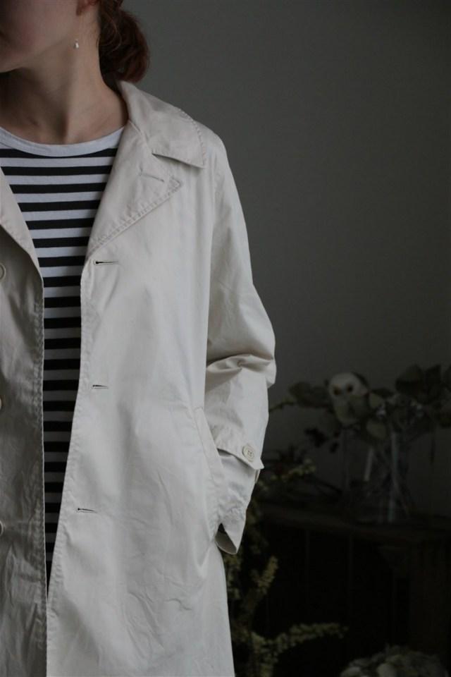 <SALE>71129 fabrique en planete terre Twill Soutien Collar coat