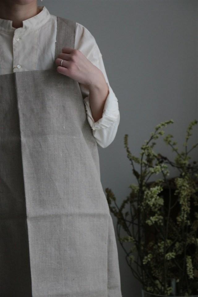 fog linen work リネンスクエアエプロン 4色