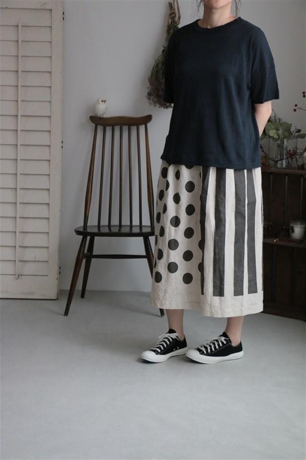 92779 prit 40/1ヨーロッパリネン天竺ワイドTシャツ2色