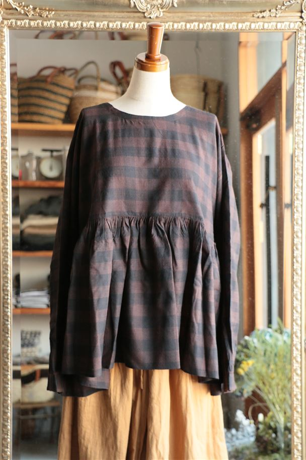 INMDS16501 maison de soil RAJASTHAN GATHERED L/SL PULLOVER
