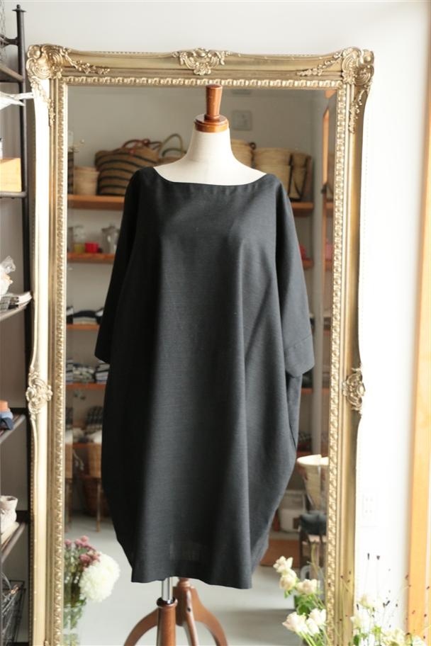 SD14AW31 STAMP AND DIARY Box Tunic チャコール