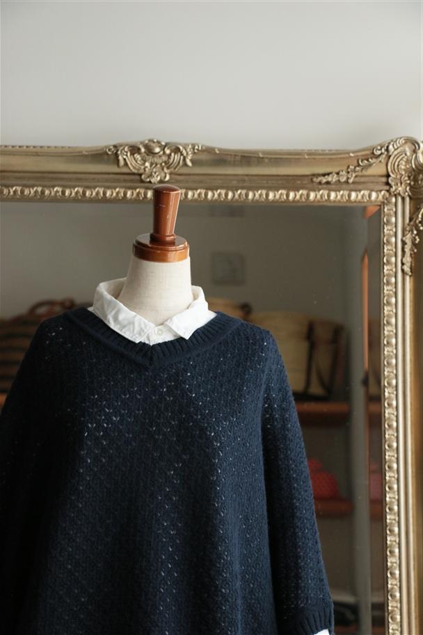 <SALE>111107 vlas blomme アイレットBigセーター 2色