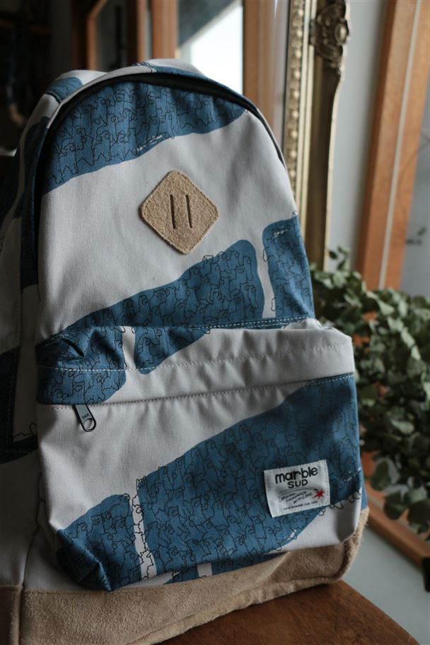 086S005163 marble SUD ハンプアルパカBD リュックサック BLUE