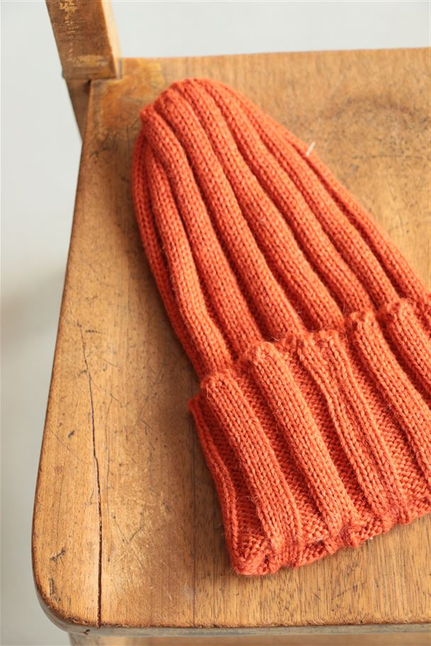 <SALE>HG050 HIGHLAND2000 wool rib Watchcap orange