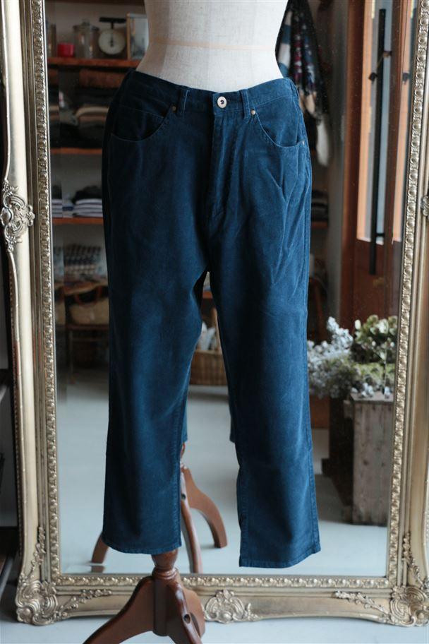 076F006162 marble SUD ストレッチコーデュロイCROPPED PANTS 3色