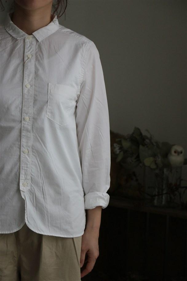 80859 prit 70/1ピマ高密度ツイルレギュラーカラーシャツ 01.オフ