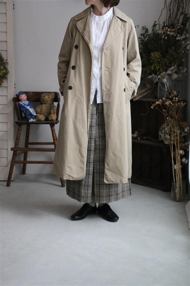 NMPA1151 ARMEN  double  breasted coat(FULL SLEEVE) 840M.DK.beige
