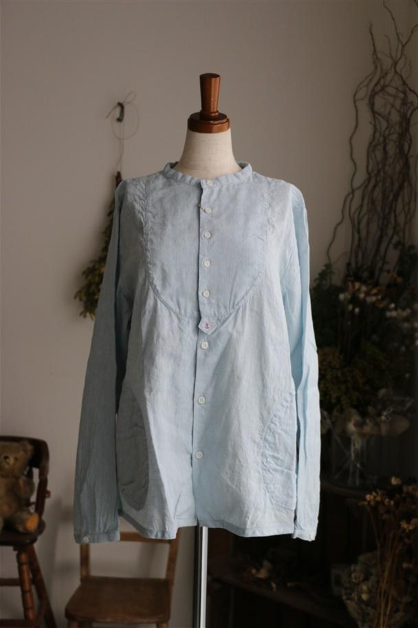 <SALE>91S-42 快晴堂 海上がりシャンブレーパジャマシャツ