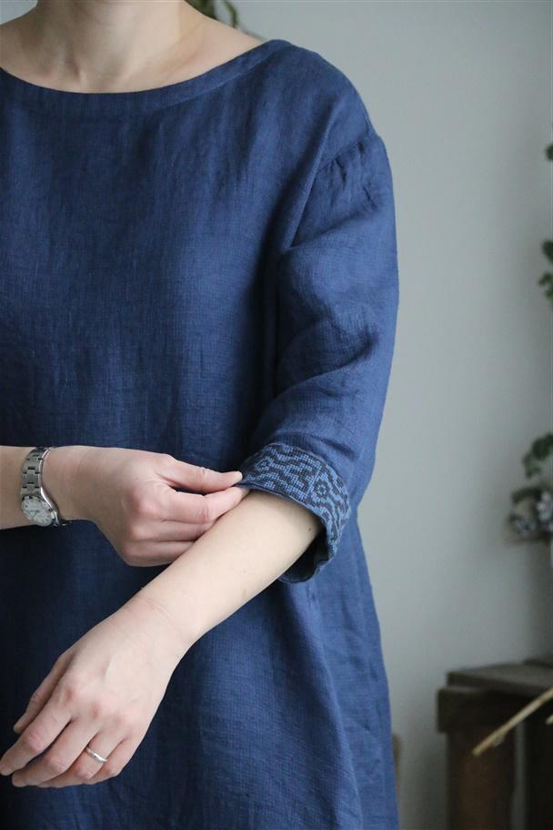 131286911 vlas blomme キリム刺繍ワンピース