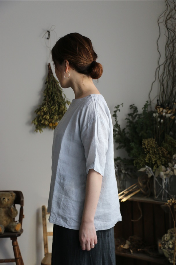 <SALE>NAM1631LP ARMEN boat neck s/sl shirt