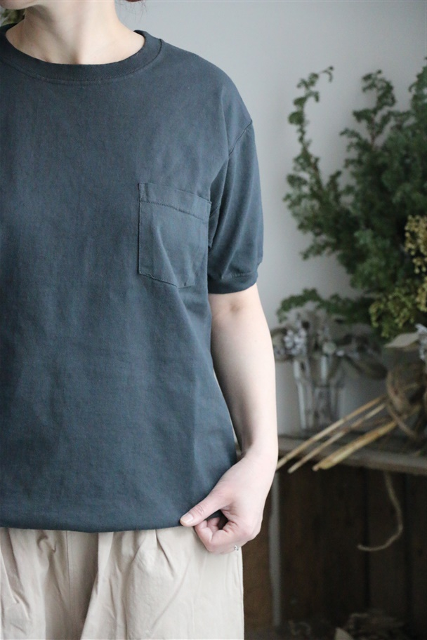 NGT9801P GOOD WEAR crew-neck s/sl pocket T 2色