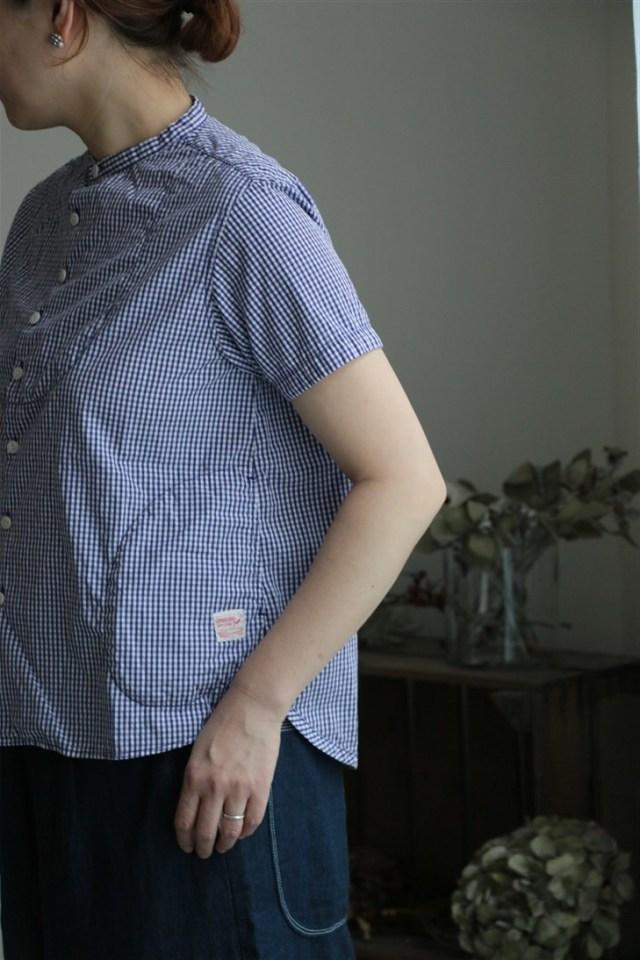 82S-08 快晴堂 サマーギンガムパジャマシャツ 3色