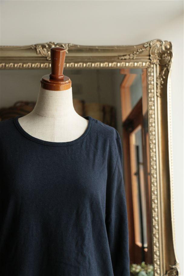 <SALE>14638 pot purri スート長袖Tシャツ NAVY