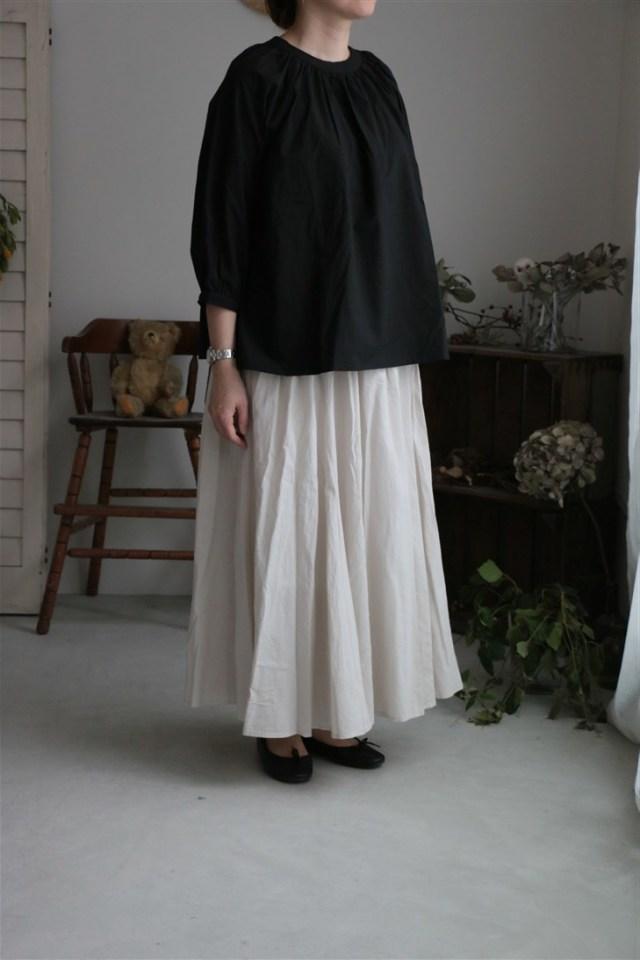 UT181SK024 UNIVERSAL TISSU ローンボリュームフレアスカート