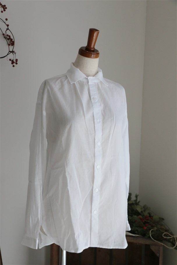 <SALE> SD62LS16 STAMP AND DIARY Gathered Blouse シロ