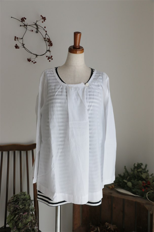 <SALE>SD52SS423 STAMP AND DIARY Smock Blouse