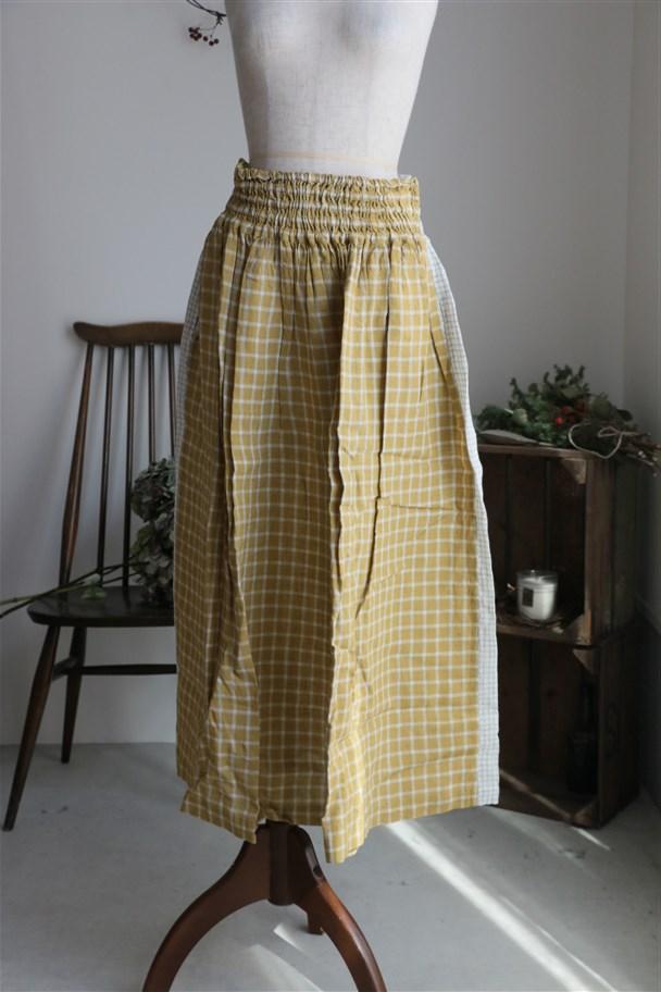 <SALE>13527261 vlas blomme ギャザースカート 2色
